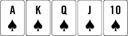 Royal flush example hand